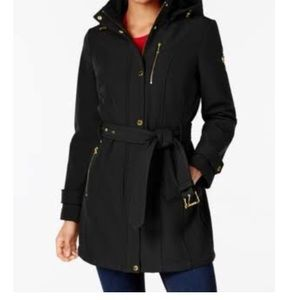 MICHAEL KORS SOFTSHELL SILHOUTTE  TRENCH COAT